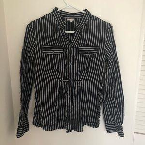 Woman's Armani Collezoni Stripe Shirt Size 4